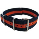 Bracelet nylon NATO Bleu/Orange