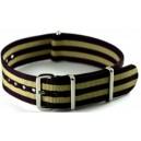 Bracelet nylon NATO Noir/Sable